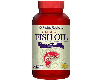 Piping Rock Omega-3 Fish Oil 1000 mg Lemon Flavor supplement