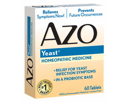 AZO Products yeast homeopathic medicine
