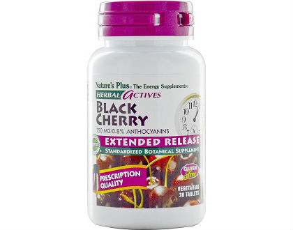Nature's Plus Herbal Actives Black Cherry Gout Supplements