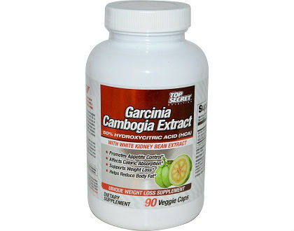 Top Secret Garcinia Cambogia Extract 50% HCA Supplement for Weight Loss