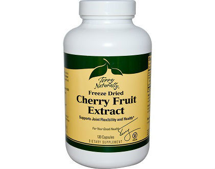 Terry Naturally Vitamins Cherry Fruit Gout Supplements for Controlling Symptoms of Gout