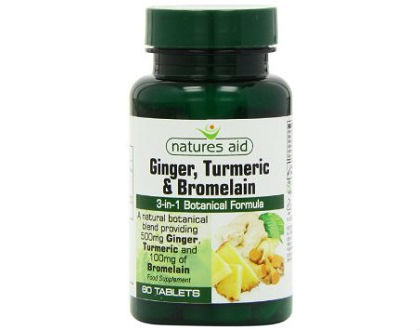 Natures Aid Ginger, Turmeric, and Bromelain supplement