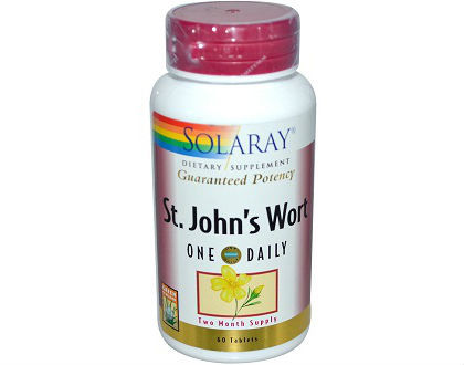 Solaray St. John's Wort Supplement for Anxiety Reduction