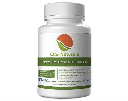 Premium Omega 3 Fish Oil CLS Naturals supplement