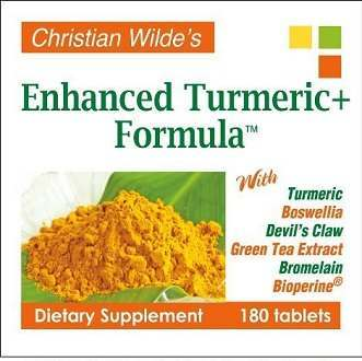 Christian Wilde's Enhanced Turmeric+ Formula supplement