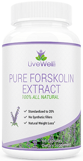 LiveWell Labs Pure Forskolin Extract Supplement for Weight Loss