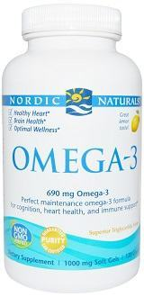 Nordic Naturals Omega-3 fish oil supplement