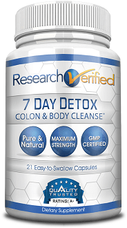 Research Verified 7 Day Detox Supplement for Colon Cleanse