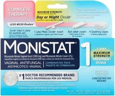 Monistat 1 Maximum Strength supplement