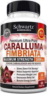 Schwartz Bioresearch Caralluma Fimbriata Extract Supplement for Weight Loss