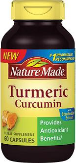 Nature Made Turmeric Curcumin supplement