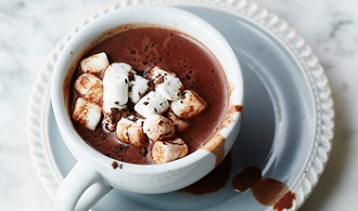 keep hydrated with hot chocolate