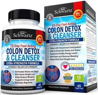 BioSchwartz Colon Cleanser & Detox for Weight Loss Supplement for Colon Cleanse