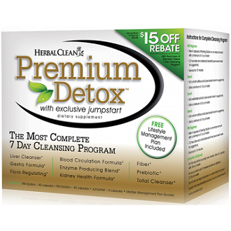 Herbal Clean Premium Detox 7-Day Complete Cleansing System Supplement for Intestinal Cleanse