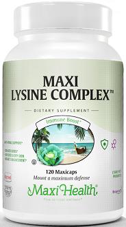 Maxi Health Maxi Lysine Complex Supplement for General Health