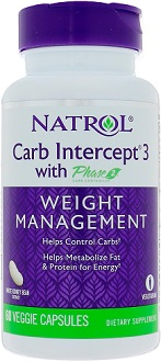 Natrol Carb Intercept 3 Supplement for Blocking Carbohydrate Absorbption