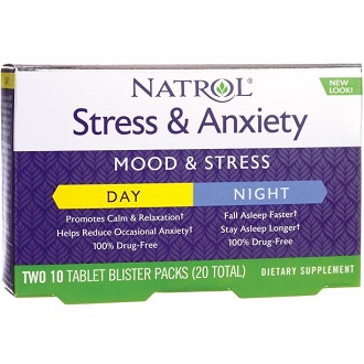 Natrol Stress And Anxiety Day And Night Supplement to Ease Anxiety