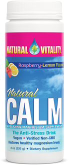 Natural Vitality Natural Calm Supplement to Ease Anxiety