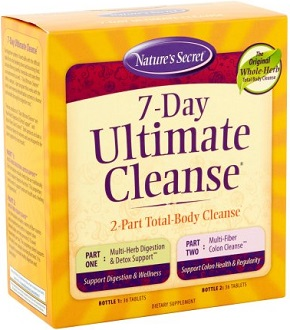 Nature's Secret 7-Day Ultimate Cleanse Supplement for Intestinal Cleanse
