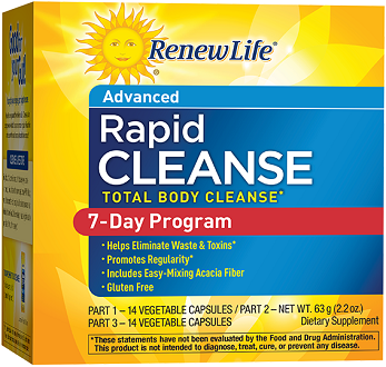 Renew Life Advanced Rapid Cleanse Supplement for Intestinal Cleanse