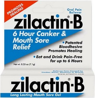 Zilactin-B Long Lasting Mouth Sore Gel Treatment for Canker Sores