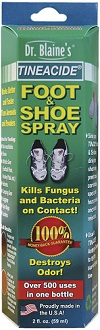 Dr Blaine's Tineacide Antifungal Foot & Shoe Spray Treatment for Athlete's Foot