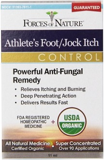 Forces of Nature Athlete's Foot Jock Itch Control Anti-Fungal Remedy
