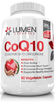 Lumen Naturals CoQ10 Supplement for Cognitive Health