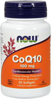 Now Foods CoQ10 Supplement for Cardiovascular Health