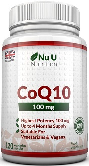Nu U Nutrition CoQ10 Supplement for Cardiovascular Health