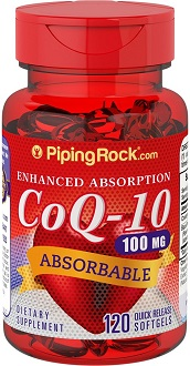PipingRock CoQ10 Supplement for Cardiovascular Health