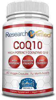 Research Verified CoQ10 Supplement for Cardiovascular Health
