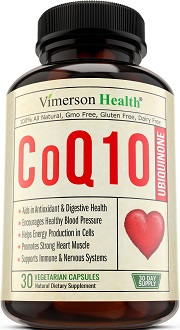 Vimerson Health COQ10 Ubiquinone Supplement for Cardiovascular Health