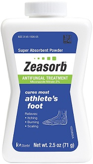 Zeasorb Athlete's Foot Powder for Treatment of Athlete's Foot