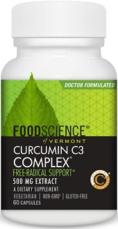 Food Science of Vermont Curcumin C3 Complex supplement