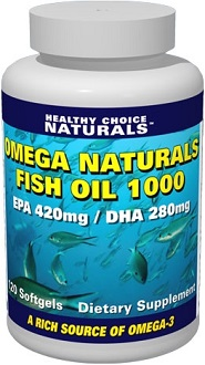 Healthy Choice Naturals Omega Naturals Fish Oil 1000 supplement