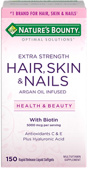 Nature's Bounty Extra Strength Hair, Skin & Nails Review