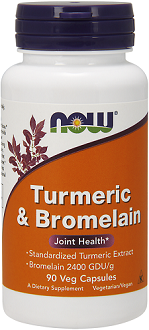 Now Turmeric and Bromelain supplement