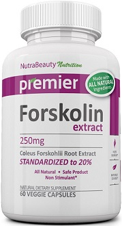 Nutra Beauty Nutrition Forskolin Extract Supplement for Weight Loss