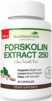 Nutritionmade Forskolin Extract 250 Supplement for Weight Loss