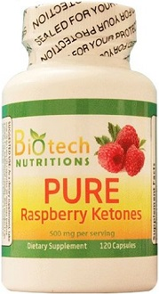 Biotech Nutrition's Pure Raspberry Ketones supplement