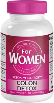 Epic Nutrition For Women Colon Detox Supplement for Colon Detox