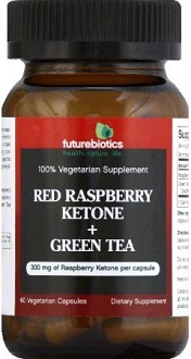 Futurebiotics Red Raspberry Ketone + Green Tea supplement for Weight Loss