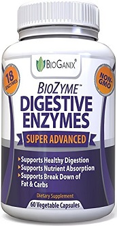 BioGanix BioZyme Digestive Enzymes Supplement for IBS Relief