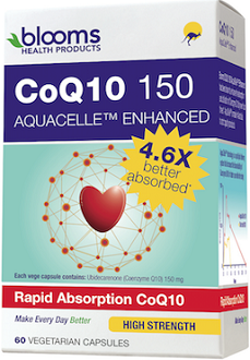Blooms CoQ10 150 AquaCelle Enhanced for Health & Well-Being