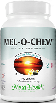 Maxi Health Mel-O-Chew for Jet Lag