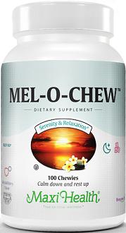 Maxi Health Mel-O-Chew for Jet Lag
