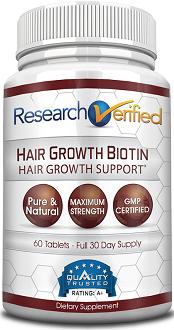 Research Verified Hair Growth Biotin for Hair Growth