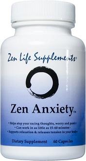 Zen Life Supplements Zen Anxiety for Anxiety Relief