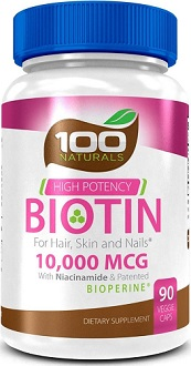 100 Naturals Biotin for Hair Growth
